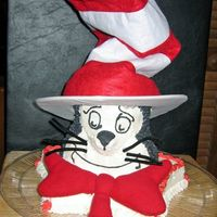 Dr.suess Cat In The Hat I made this for my daughters class when they were having a birthday celebration for Dr. Suess back in March. The is stacked and carved for...