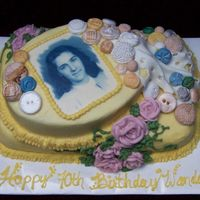 Mom I admit this was her b-day cake, but it seems to fit the theme.There's a story about the buttons - mom is a master seamstress and when...