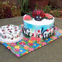 Ladybug 1St Birthday This was fun - I was so inspired by others on this site - kimistry, trisha1972 and charman all led me in the right direction. Thank you all...