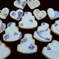 My First Cookies! These are for my brother's wedding - I'll take them on the plane with me tomorrow. This was alot of fun. Many, MANY thanks to...