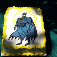 Batman Bct My son's birthday cake. This BCT gave me some fits - mixing 3 shades of blue/gray to get enough contrast, but not too much.. The good...