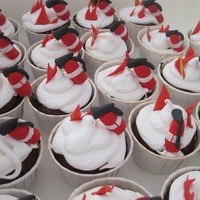 Fire Extinguisher Cupcakes Last minute cupcakes made for a boy's fire-truck party. Fire extinguishers are fondant, covered in 7minute frosting