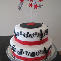 Music Friend's father turning 60... requested something musical with colours of silver, black and red.