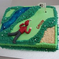 Golf This cake was done for a 40th birthday. A lover of golf but not quiet there yet.