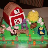 Farm Thanks to all the great pics poster here on CC....hence this cake. The little guy loves barney and horses and wanted to see that on the...