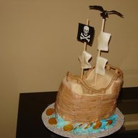 Pirate Ship  I made two of these cakes in the last couple weeks. One was for a pirate theme dinner party and the other for a little boy's sixth...
