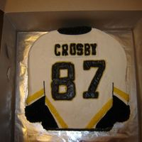 Crosby Jersey All buttercream Crosbey Jersey. This cake was suppose to be quick and easy but it gave me a lot of grief! But overall I am happy with the...