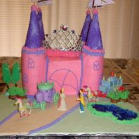 Princess Castle I made this for my daughter's 5th birthday. She asked for a pink and purple cake and she got it. It is covered in BC. I never thought...