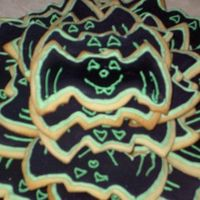 Bat Cookies I made these cookies for my daughters class. She asked me Sunday night at 7:30 to make them for her for Monday morning, Holloween day. It...