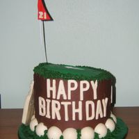 Golf Cake Balls and bag made from white chocoate, chocolate cake with chocolate buttercream. 1 of 3 pics.