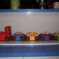 Logan's Train Cake I made this cake yesterday for my son's first birthday. I think it turned out quite well. I'm 35 weeks pregnant at the moment......