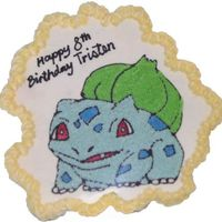 Pokemon - Bulbasaur This is my son's Bulbasaur cupcake cake. He really loved it.