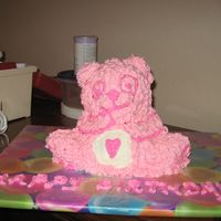 Care Bear Birthday Cake I used my stand up bear pan to make this--didn't come out quite like I had pictured it but the birthday girl liked it so that's...