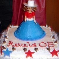 Kilgore Rangerettes I made this cake several years ago when my daughter was a member of the Kilgore CollegeRangerettes for their spring show. I used the doll...