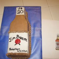 Jim Beam Cake  this was for a co worker--her future son in law wanted this for his groom's cake. She didn't want one at the wedding but gave...
