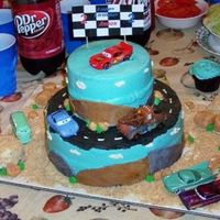 Andon's 2Nd Birthday!!! Car's Cake This was for my son's 2nd birthday this past Saturday, of course I was inspired by the many other cars cakes on cc, thank you!The cake...