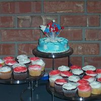 4Th Of July Cupcakes simple cupcakes, small 1 layer 6 inch chocolate cake. Made for a family get together, thank goodness I decided to make them, no one else...