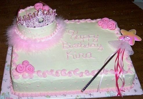 1St Birthday Cake I did this cake for my cousins little girl, she just said girly so I thought the princess theme would be perfect