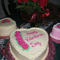 Valentine's Day Red velvet with cream cheese icing.