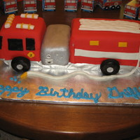 Firetruck For my son's 3rd bday- my first attempt at a truck. Happy with the way it turned out, learned alot too. The front two parts were lemon...