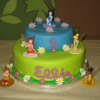 Disney Fairies Featuring Silvermist I made this cake for a friend's daughter, who loves all the Disney Fairies but Silvermist is her favorite. Her mom found a cake she...