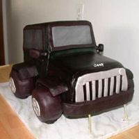 Jeep Cake I made this cake for a friend's son's 16th birthday to resemble the jeep he was getting. Excuse the support toothpicks under the...