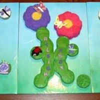 "Cupcake Gardenscape Thanks to everyone who gave me ideas for this. It has taken me a while to get the picture uploaded. The scape consists of 2 6"" petal..."