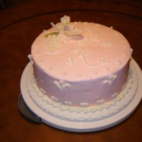Mary Kay Birthday Party   I was asked to do a quick cake for a Mary Kay meeting. Buttercream icing with gumpaste orchid.