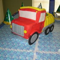 Dump Truck Fondant icing! I did this for my grandson's first birthday - although I doubt he appreciated my hard work! lol