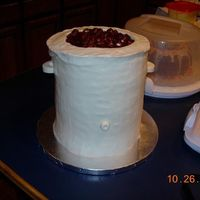 "Chili Cook Off Cake Our office held a chili cook off this fall...I baked a cake that looked like a crock pot, filled with chili! This is 5 8"" rounds (with..."