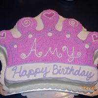 Happy Birthday Amy Even a grown up can be a princess on her birthday! :-)