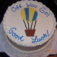 Off We Go! Two of us quit our jobs in the same week, and I made my own going away cake!