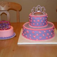1St Birthday Diva Made to match party stuff - Purple with pink cheetah spots. Added cheetah spots to smash cake, but didn't get a picture - darn! French...