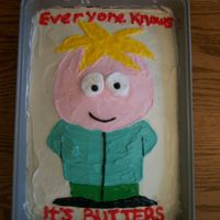 Butters!   Made for a friend's birthday.... another Southpark reference!
