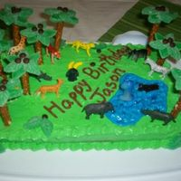 Jungle Cake   For my friend's son's first birthday