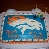 Broncos   made for my friend's football themed baby shower... the father is a broncos fan