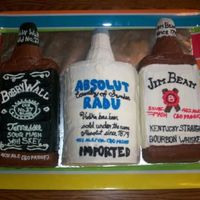 Jack Daniels, Absolut, Jim Beam   made for Bobby, Radu and Jim's birthdays... its the alcohol trifecta