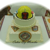 Marine/ Firefighter Retirement Cake