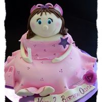 Fairy A pretty little chocolate cake fairy for a lovely wee 2 year old.