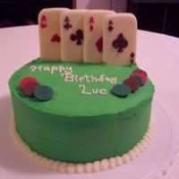 Poker Cake Poker cake for a friend. Cards and chips are made from chocolate candy melts. Thanks for looking!