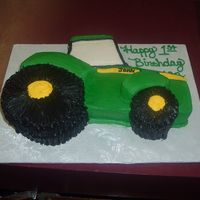 Tractor Shape THIS IS A 3-D TRACTOR FOR A FIRST BIRTHDAY.