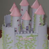 Castle This is the castle I made. It has gumpaste towers and walls, with a fondant covered mud cake. Thanks for looking!