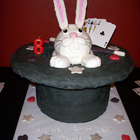Rabbit In Hat Magic Birthday Cake
