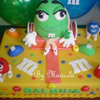 M&m Party   All the cake is fondat...
