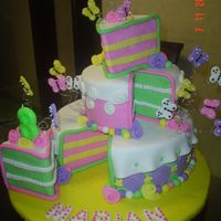 Butterflies   All the cake is fondant..the littles butterflies too.