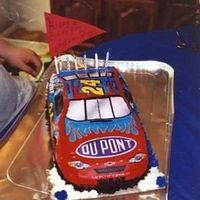 Jeff Gordon Car Cake Made this (my first 3d type cake) for my husband's birthday over a year ago. It wasn't very difficult with the edible parts that...