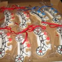 Tandem Bicycle Decorated Cookies I made these for someone who belongs to a tandem bicycle club and wanted some cookies for a club get-together. It was really fun to try to...