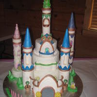 Shay's 5Th Birthday Cake I made this cake for my best friends grand daughter. Sizes are, 10ins., 8ins. & 6ins. The cake is iced in BC and the decorations are...