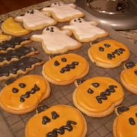 Halloween Cookies - 2007   No Fail sugar cookies with royal icing