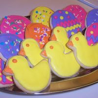 Easter Chicks & Eggs - Cookies   No Fail Sugar Cookies with royal icing.